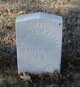 POORE (VETERAN CSA), FRANCIS M - Pulaski County, Arkansas | FRANCIS M POORE (VETERAN CSA) - Arkansas Gravestone Photos