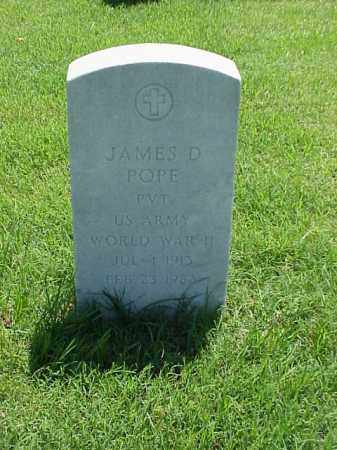 POPE (VETERAN WWII), JAMES D - Pulaski County, Arkansas | JAMES D POPE (VETERAN WWII) - Arkansas Gravestone Photos