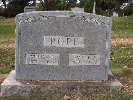 POPE, WILLIAM G - Pulaski County, Arkansas | WILLIAM G POPE - Arkansas Gravestone Photos