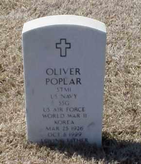 POPLAR (VETERAN 2 WARS), OLIVER - Pulaski County, Arkansas | OLIVER POPLAR (VETERAN 2 WARS) - Arkansas Gravestone Photos