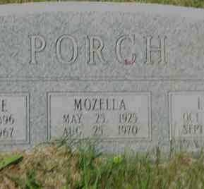 PORCH, MOZELLA - Pulaski County, Arkansas | MOZELLA PORCH - Arkansas Gravestone Photos