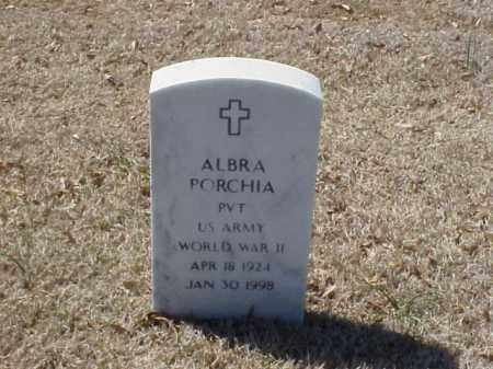 PORCHIA (VETERAN WWII), ALBRA - Pulaski County, Arkansas | ALBRA PORCHIA (VETERAN WWII) - Arkansas Gravestone Photos