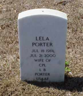 PORTER, LELA - Pulaski County, Arkansas | LELA PORTER - Arkansas Gravestone Photos