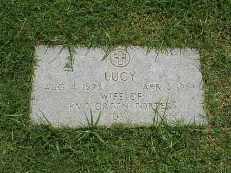 PORTER, LUCY - Pulaski County, Arkansas | LUCY PORTER - Arkansas Gravestone Photos