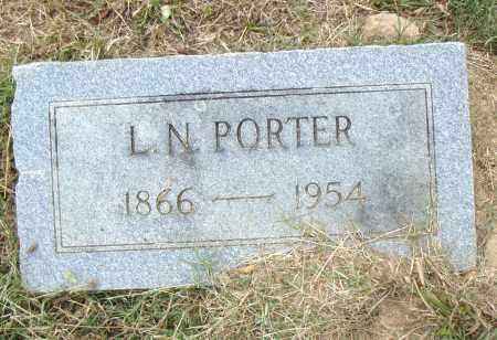 PORTER, L. N. - Pulaski County, Arkansas | L. N. PORTER - Arkansas Gravestone Photos