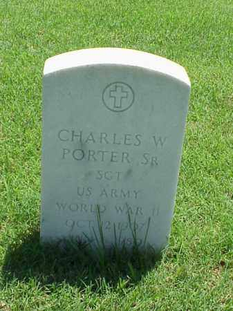PORTER, SR (VETERAN WWII), CHARLES W - Pulaski County, Arkansas | CHARLES W PORTER, SR (VETERAN WWII) - Arkansas Gravestone Photos