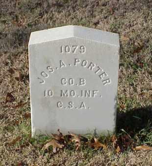 PORTER (VETERAN CSA), JOSEPH A - Pulaski County, Arkansas | JOSEPH A PORTER (VETERAN CSA) - Arkansas Gravestone Photos