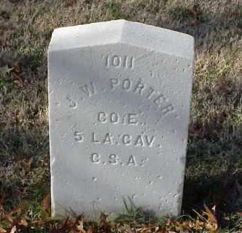 PORTER (VETERAN CSA), J W - Pulaski County, Arkansas | J W PORTER (VETERAN CSA) - Arkansas Gravestone Photos