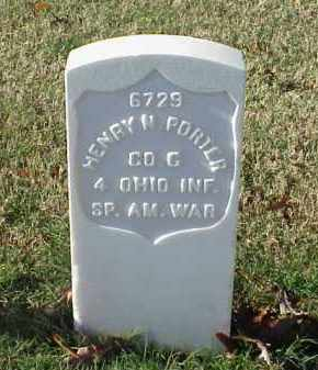 PORTER (VETERAN SAW), HENRY N - Pulaski County, Arkansas | HENRY N PORTER (VETERAN SAW) - Arkansas Gravestone Photos