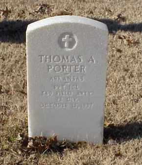 PORTER (VETERAN WWI), THOMAS A - Pulaski County, Arkansas | THOMAS A PORTER (VETERAN WWI) - Arkansas Gravestone Photos