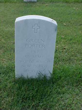 PORTER (VETERAN WWII), GREEN - Pulaski County, Arkansas | GREEN PORTER (VETERAN WWII) - Arkansas Gravestone Photos