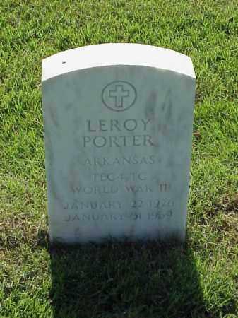 PORTER (VETERAN WWII), LEROY - Pulaski County, Arkansas | LEROY PORTER (VETERAN WWII) - Arkansas Gravestone Photos