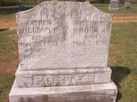 PORTER, WILLIAM P - Pulaski County, Arkansas | WILLIAM P PORTER - Arkansas Gravestone Photos