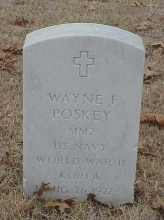 POSKEY (VETERAN 2 WARS), WAYNE F - Pulaski County, Arkansas | WAYNE F POSKEY (VETERAN 2 WARS) - Arkansas Gravestone Photos