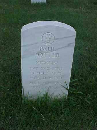 POTTER (VETERAN WWI), PAUL - Pulaski County, Arkansas | PAUL POTTER (VETERAN WWI) - Arkansas Gravestone Photos
