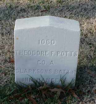 POTTS (VETERAN CSA), THEODORE F - Pulaski County, Arkansas | THEODORE F POTTS (VETERAN CSA) - Arkansas Gravestone Photos