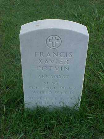 POTVIN (VETERAN WWII), FRANCIS XAVIER - Pulaski County, Arkansas | FRANCIS XAVIER POTVIN (VETERAN WWII) - Arkansas Gravestone Photos