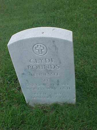 POUNDS (VETERAN 2 WARS), CLYDE - Pulaski County, Arkansas | CLYDE POUNDS (VETERAN 2 WARS) - Arkansas Gravestone Photos