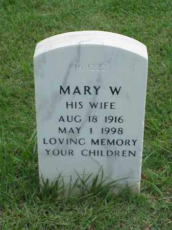 POWELL, MARY W - Pulaski County, Arkansas | MARY W POWELL - Arkansas Gravestone Photos