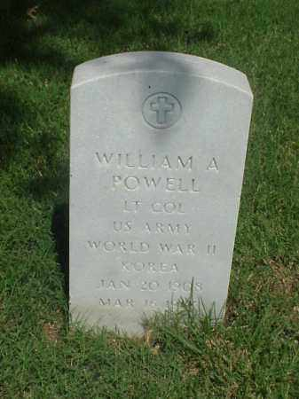 POWELL (VETERAN 2 WARS), WILLIAM A - Pulaski County, Arkansas | WILLIAM A POWELL (VETERAN 2 WARS) - Arkansas Gravestone Photos