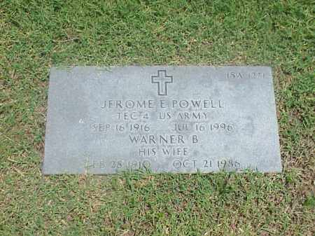 POWELL (VETERAN WWII), JEROME E - Pulaski County, Arkansas | JEROME E POWELL (VETERAN WWII) - Arkansas Gravestone Photos