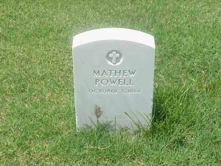 POWELL, MATHEW - Pulaski County, Arkansas | MATHEW POWELL - Arkansas Gravestone Photos