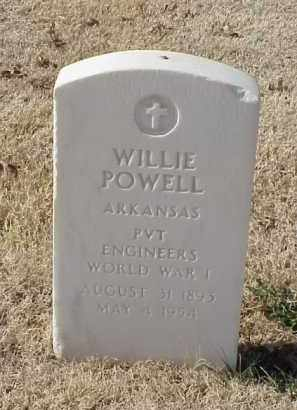 POWELL (VETERAN WWI), WILLIE - Pulaski County, Arkansas | WILLIE POWELL (VETERAN WWI) - Arkansas Gravestone Photos