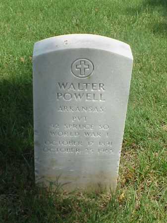 POWELL (VETERAN WWI), WALTER - Pulaski County, Arkansas | WALTER POWELL (VETERAN WWI) - Arkansas Gravestone Photos
