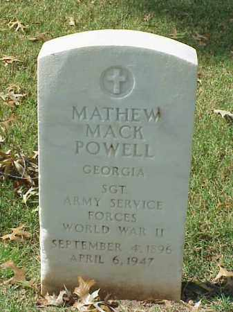POWELL (VETERAN WWII), MATHEW MACK - Pulaski County, Arkansas | MATHEW MACK POWELL (VETERAN WWII) - Arkansas Gravestone Photos