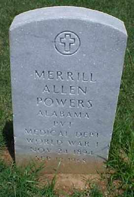 POWERS (VETERAN WWI), MERRILL ALLEN - Pulaski County, Arkansas | MERRILL ALLEN POWERS (VETERAN WWI) - Arkansas Gravestone Photos