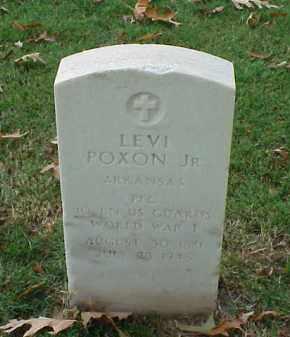 POXON, JR (VETERAN WWI), LEVI - Pulaski County, Arkansas | LEVI POXON, JR (VETERAN WWI) - Arkansas Gravestone Photos