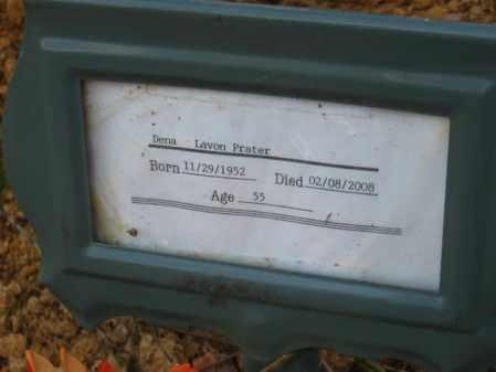 PRATER, DENA LAVON - Pulaski County, Arkansas | DENA LAVON PRATER - Arkansas Gravestone Photos