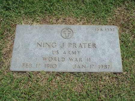 PRATER (VETERAN WWII), NING J - Pulaski County, Arkansas | NING J PRATER (VETERAN WWII) - Arkansas Gravestone Photos