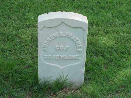 PRATHER (VETERAN UNION), ANDREW B - Pulaski County, Arkansas | ANDREW B PRATHER (VETERAN UNION) - Arkansas Gravestone Photos