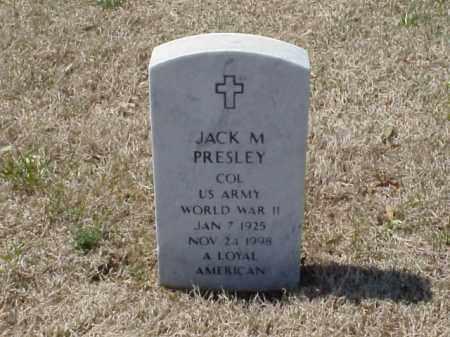 PRESLEY (VETERAN WWII), JACK M - Pulaski County, Arkansas | JACK M PRESLEY (VETERAN WWII) - Arkansas Gravestone Photos