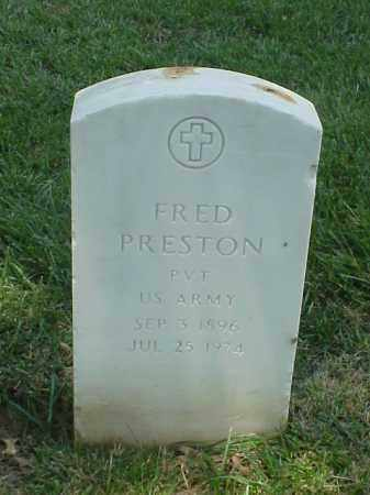 PRESTON (VETERAN WWI), FRED - Pulaski County, Arkansas | FRED PRESTON (VETERAN WWI) - Arkansas Gravestone Photos