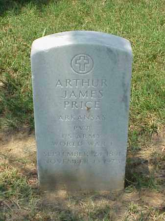 PRICE (VETERAN WWI), ARTHUR JAMES - Pulaski County, Arkansas | ARTHUR JAMES PRICE (VETERAN WWI) - Arkansas Gravestone Photos
