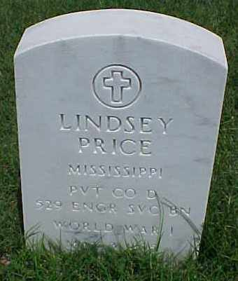 PRICE (VETERAN WWI), LINDSEY - Pulaski County, Arkansas | LINDSEY PRICE (VETERAN WWI) - Arkansas Gravestone Photos