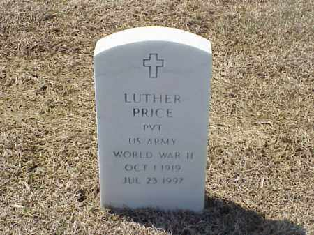 PRICE (VETERAN WWII), LUTHER - Pulaski County, Arkansas | LUTHER PRICE (VETERAN WWII) - Arkansas Gravestone Photos