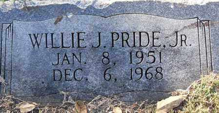 PRIDE, JR, WILLIE J - Pulaski County, Arkansas | WILLIE J PRIDE, JR - Arkansas Gravestone Photos