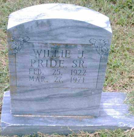 PRIDE, SR., WILLIE J. - Pulaski County, Arkansas | WILLIE J. PRIDE, SR. - Arkansas Gravestone Photos