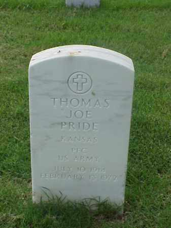 PRIDE (VETERAN), THOMAS JOE - Pulaski County, Arkansas | THOMAS JOE PRIDE (VETERAN) - Arkansas Gravestone Photos