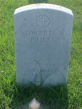 PRIEST (VETERAN WWII), EDWARD W - Pulaski County, Arkansas | EDWARD W PRIEST (VETERAN WWII) - Arkansas Gravestone Photos