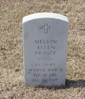 PRINCE (VETERAN WWII), MELVIN ALLEN - Pulaski County, Arkansas | MELVIN ALLEN PRINCE (VETERAN WWII) - Arkansas Gravestone Photos