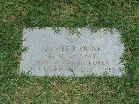 PRINE (VETERAN 2 WARS), JAMES P - Pulaski County, Arkansas | JAMES P PRINE (VETERAN 2 WARS) - Arkansas Gravestone Photos