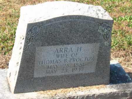 PROCTOR, ARRA H. - Pulaski County, Arkansas | ARRA H. PROCTOR - Arkansas Gravestone Photos