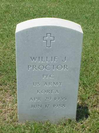 PROCTOR (VETERAN KOR), WILLIE J - Pulaski County, Arkansas | WILLIE J PROCTOR (VETERAN KOR) - Arkansas Gravestone Photos