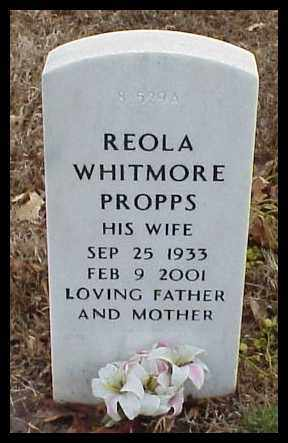 WHITMORE PROPPS, REOLA - Pulaski County, Arkansas | REOLA WHITMORE PROPPS - Arkansas Gravestone Photos