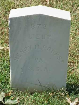 PROPST (VETERAN CSA), HENRY H - Pulaski County, Arkansas | HENRY H PROPST (VETERAN CSA) - Arkansas Gravestone Photos