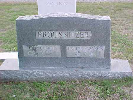 FRANKLIN PROUSNITZER, HATTYE - Pulaski County, Arkansas | HATTYE FRANKLIN PROUSNITZER - Arkansas Gravestone Photos